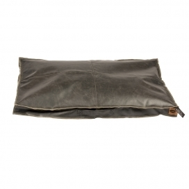 LEATHERETTE BLOCK PILLOW SIESTA CAVIAR 110X68X10CM