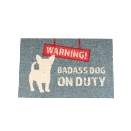PET FLOOR MAT OUTDOOR WARNING 60X40CM